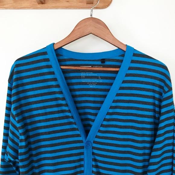 065d57e309e9 jordan craig Other - Jordan Craig Blue Striped Button Down Cardigan